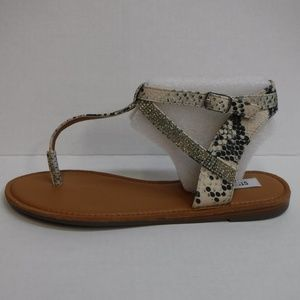 Steve Madden Size 9 Snake Sandals New Womens Shoes